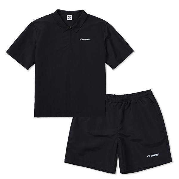 CHMPS WIND SHIRT SET-UP BLACK